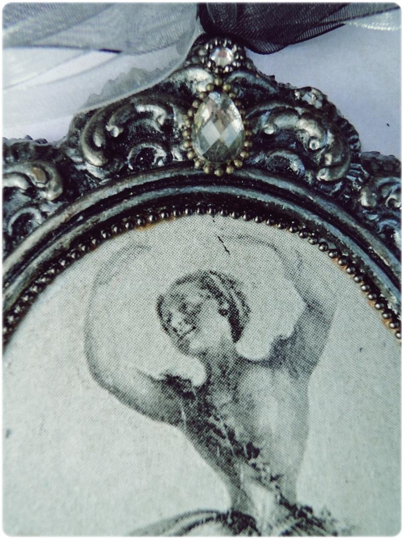 Gipsowa ramka z obrazkiem Baletnica 2