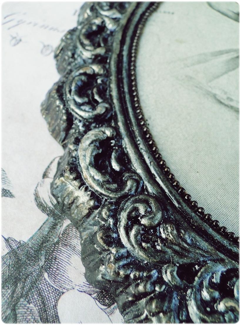 Gipsowa ramka z obrazkiem Baletnica 4