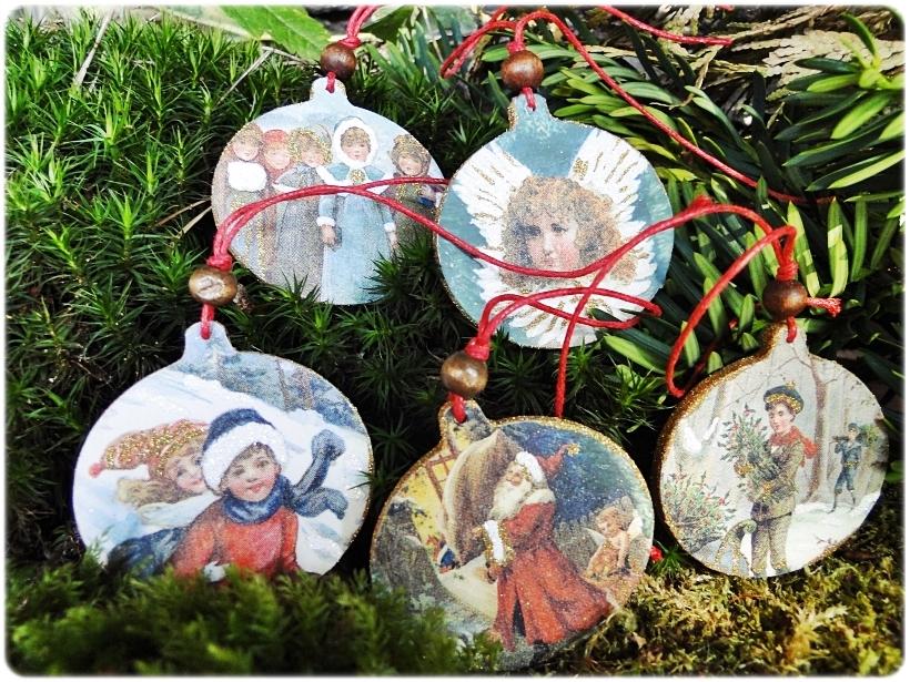 Komplet drewnianych zawieszek My Christmas 6