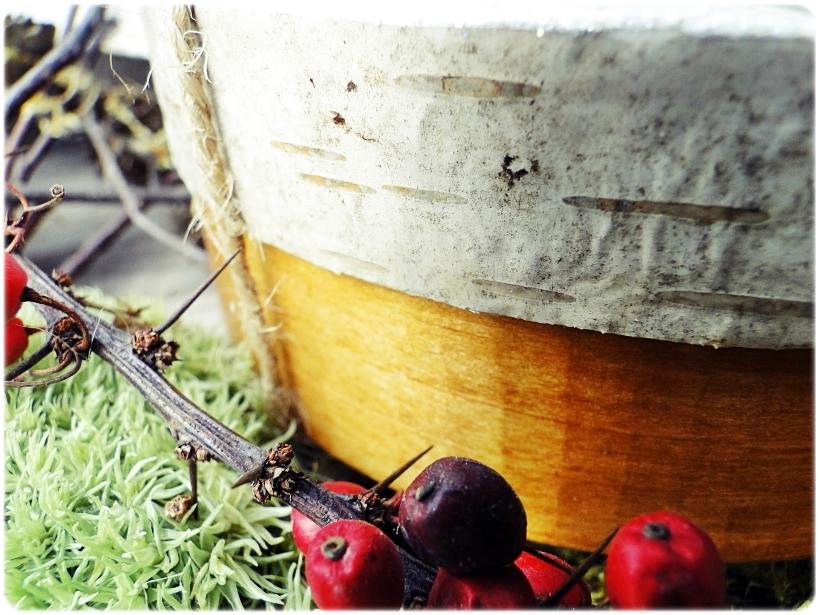 Rustykalne zawieszki w pudełku z łuby Zima 14