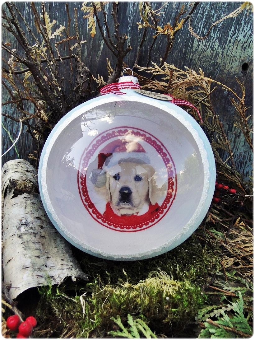 Szklana bombka z okienkiem Mój Przyjaciel Pies 3