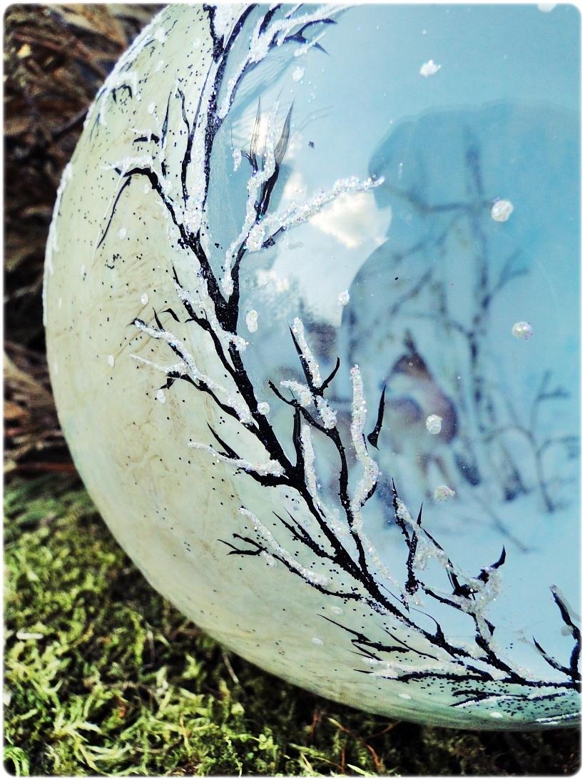 Szklana bombka z okienkiem Zimowa wioska 5