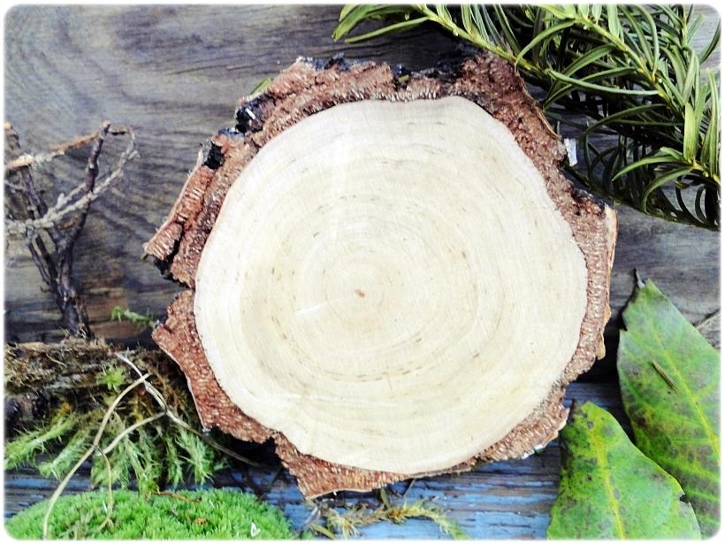 Dekoracja świąteczna na drewnie brzozowym Piesek 4