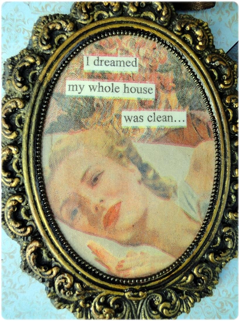 Gipsowa ramka z obrazkiem Clean House 2