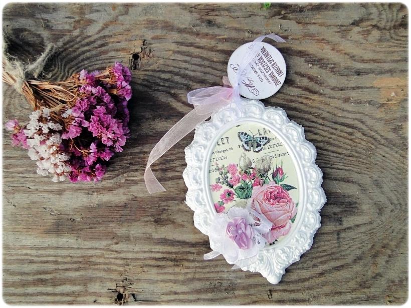 Gipsowa ramka z obrazkiem Flowers&Butterflies 4
