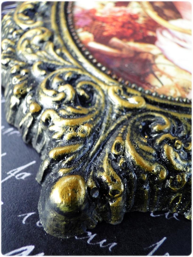 Gipsowa ramka z obrazkiem Gold Duchess 3