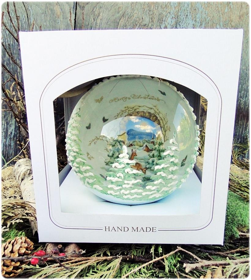 Szklana bombka z okienkiem Domek w górach 7