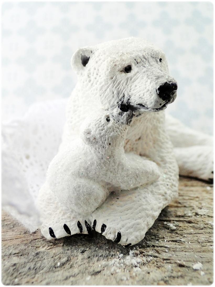 Figurka gipsowa Niedźwiedź polarny 4