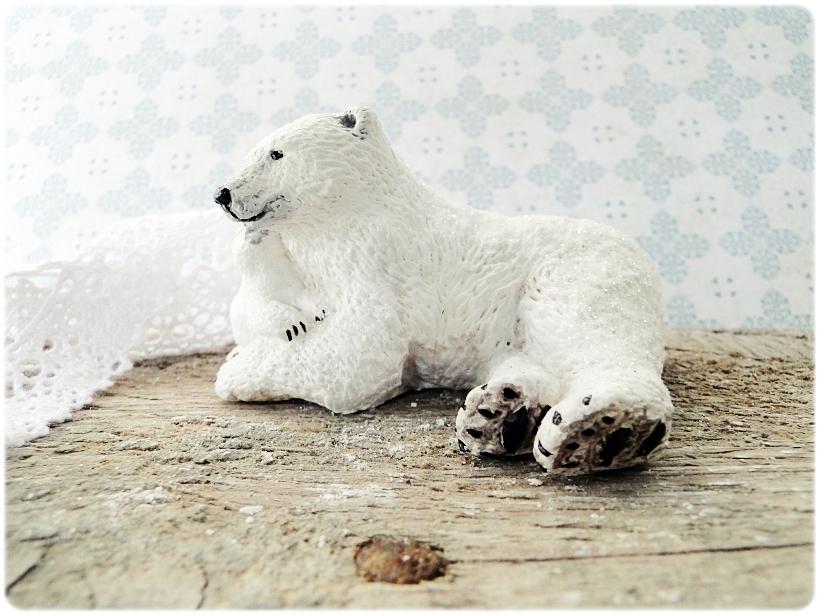 Figurka gipsowa Niedźwiedź polarny 5