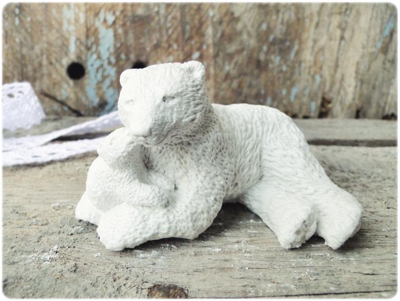 Figurka gipsowa Niedźwiedź polarny 7