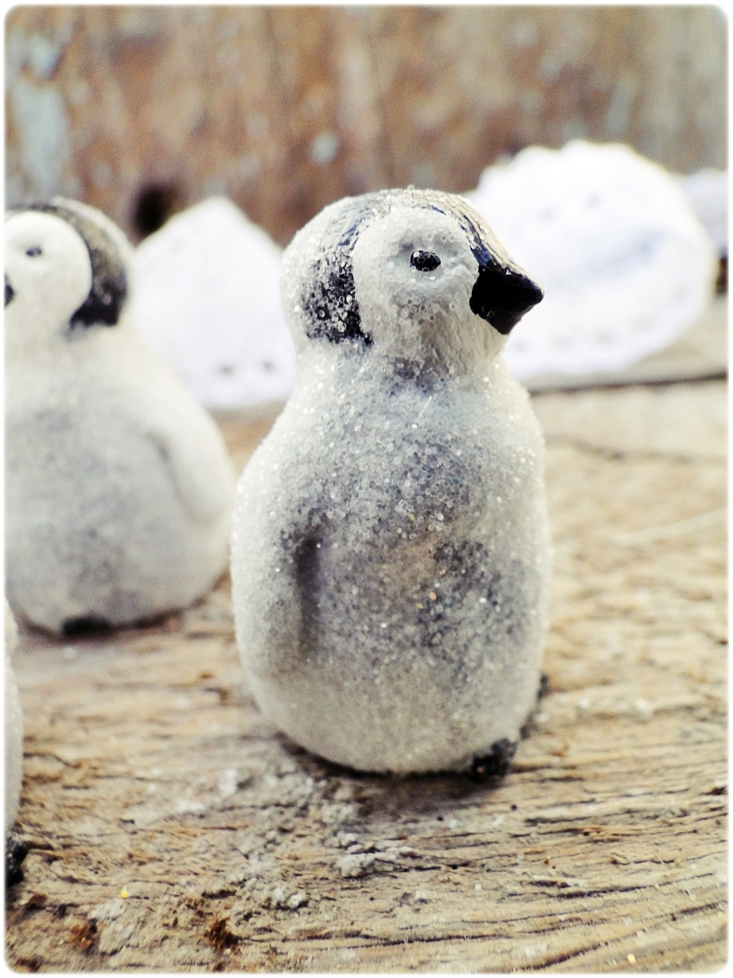 Figurka gipsowa Pingwinek 1