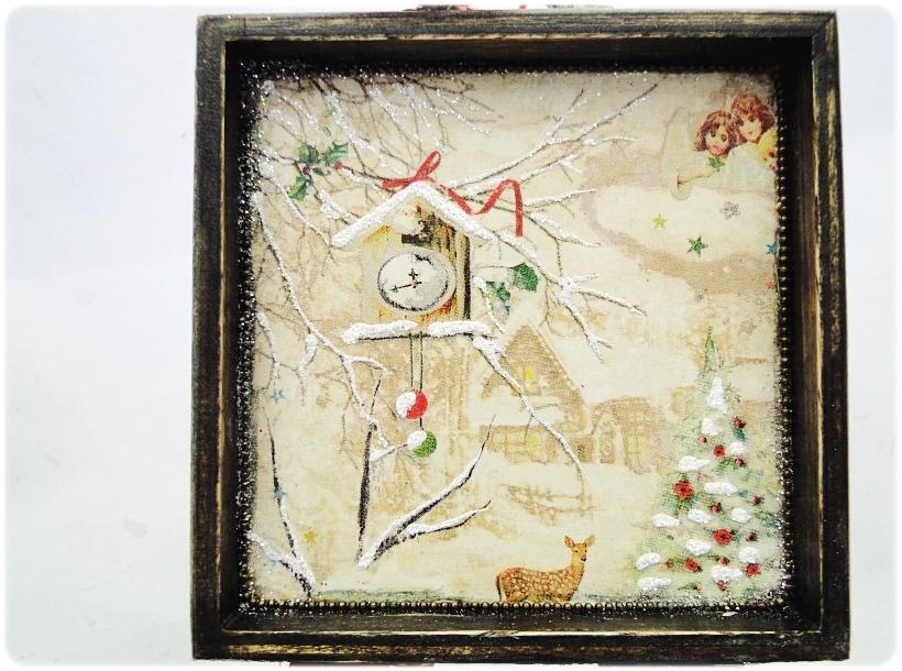 Bombka gwiazdka w drewnianym pudełku Spotkanie z Mikołajem 4