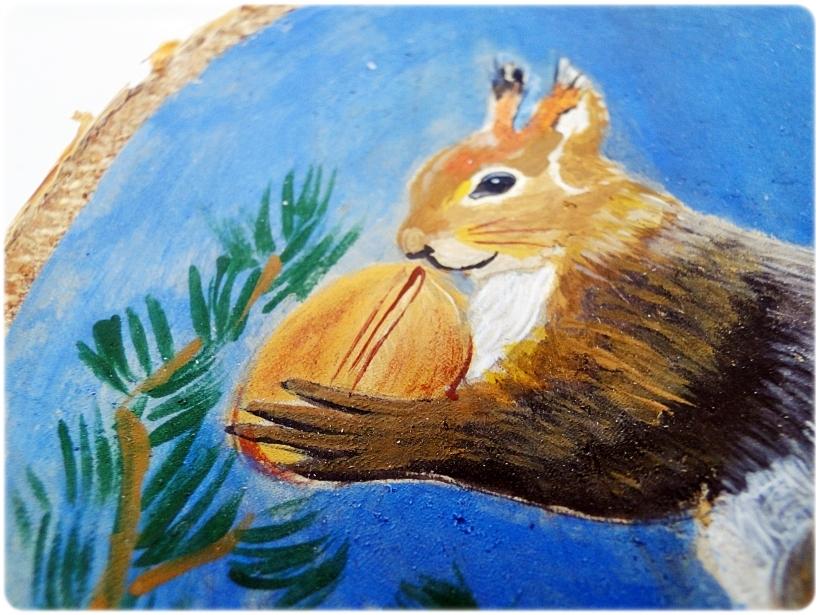 Plastry brzozy ręcznie malowane 5a